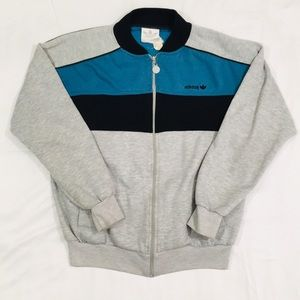Vintage Embroidered Adidas Bomber Crewneck Sweater